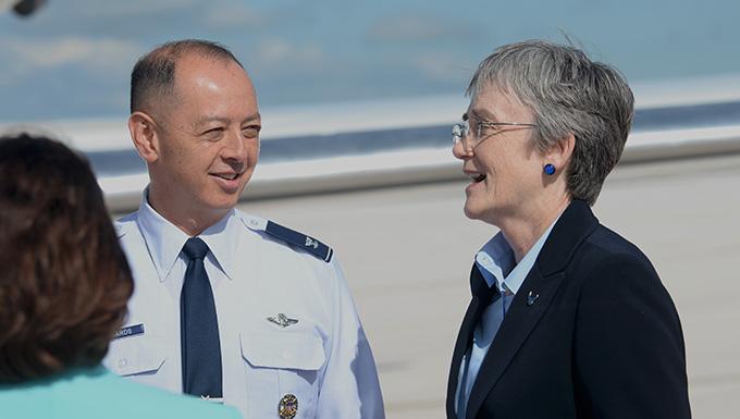 SecAF visits Ellsworth AFB